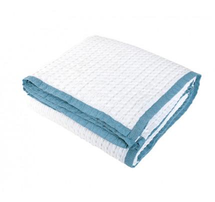 Κουβέρτα Πικέ Υπέρδιπλη 230x240 Nef Nef Blue Margo Natural