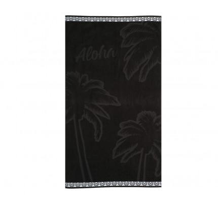 Πετσέτα Θαλάσσης 80x160 Nef Nef Ζακαρ Μπορντουρα Aloha Black