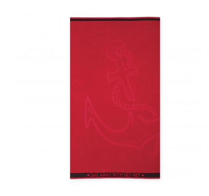 Πετσέτα Θαλάσσης 80x160 Nef Nef Ζακαρ Μπορντουρα Anchor Red