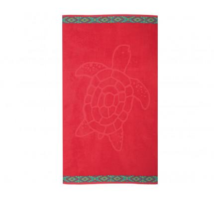 Πετσέτα Θαλάσσης 70x120 Nef Nef Ζακαρ Εμπριμε Turtle Red