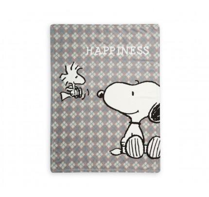 Κουβέρτα Fleece Αγκαλιάς 75x110 Nef Nef Fleece Snoopy Happiness