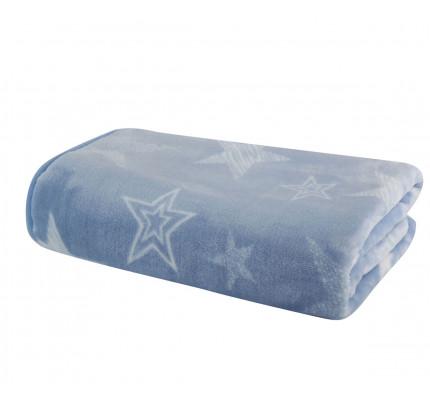 Κουβέρτα Βελουτέ Κούνιας 100x140 Nef Nef Astro Blue