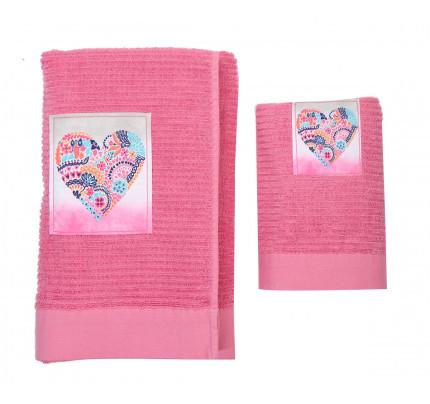 Παδικές Πετσέτες (Σετ 2 Τμχ) Nef Nef Teens Stylish Heart