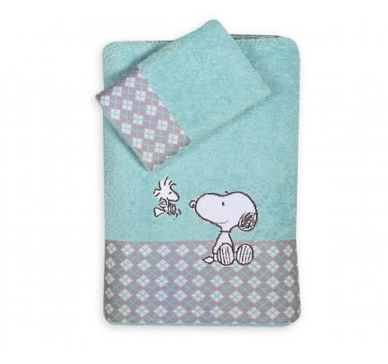 Πετσέτες (Σετ 2 Τμχ) Nef Nef Kenthth Snoopy Happiness