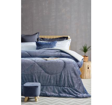 Κουβερτοπάπλωμα King Size 240X260 Palamaiki Gring Blanket Grind Blue