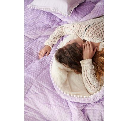 Κουβερτοπάπλωμα Υπέρδιπλο 220X240 Palamaiki Desire Blanket Desire Lilac