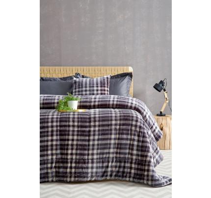 Κουβερτοπάπλωμα Μονό 160X220 Palamaiki Check Blanket Check Grey