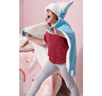 Κουβέρτα Fleece Αγκαλιάς 60X90 Palamaiki New Baby Nb0126 Blue