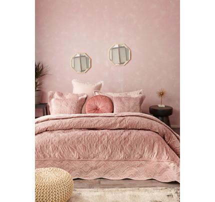 Κουβερλί Υπέρδιπλο 220X240 Palamaiki Velvet Covers Vienne Pink