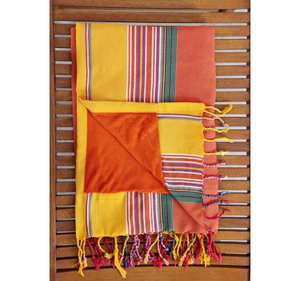 Πετσέτα/Παρεό 95x175 - Nima Mahabali Orange