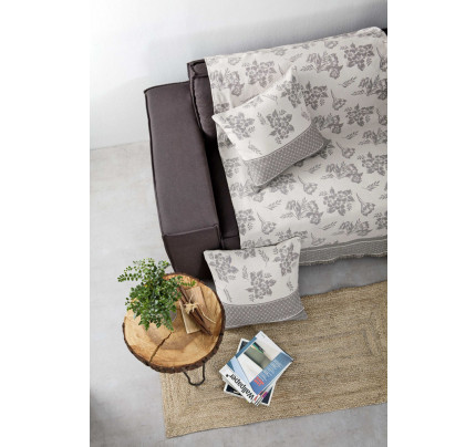 Διακοσμητική Μαξιλαροθήκη 50x50 πάνελ - Nima Quinta Gray
