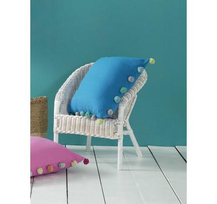 Διακοσμητική Μαξιλαροθήκη 45x45 Pom Pom Nima - Funky Blue