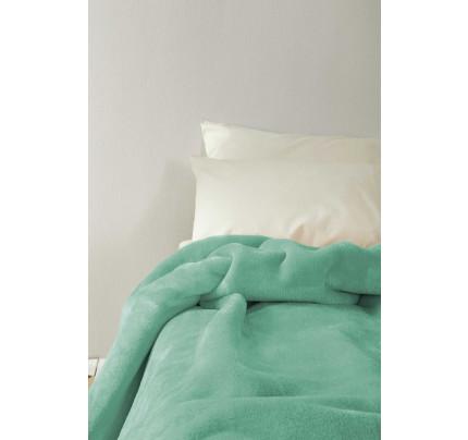 Κουβέρτα Βελουτέ Μονή 160x220 Koyun Nima - Aqua