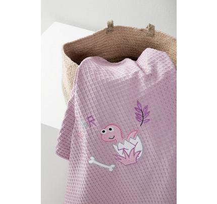 Κουβέρτα Πικέ Κούνιας Nima - Baby Roar Lilac