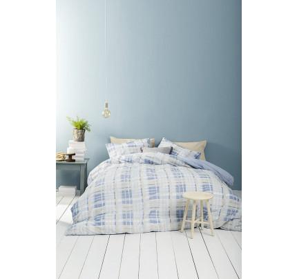 Σεντόνια Υπέρδιπλα (Σετ) Nima - Melville Blue