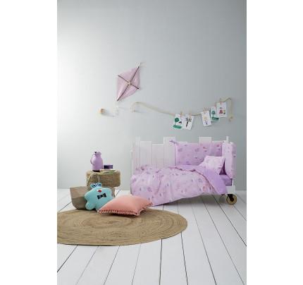 Σεντόνια Κούνιας (Σετ) Nima - Baby Roar Lilac