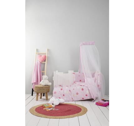 Σεντόνια Κούνιας (Σετ) Nima - Baby Star Pink