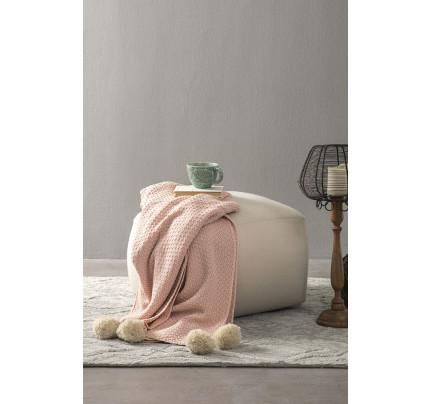 Κουβέρτα Καναπέ 130x170 - Nima Braid Salmon