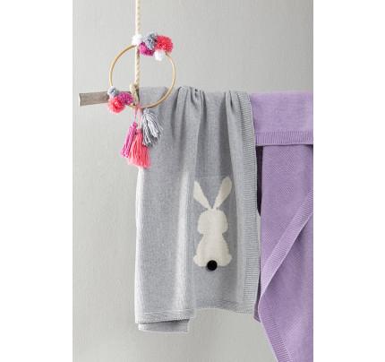 Κουβέρτα 75x110 Nima - Honey Bunny Gray
