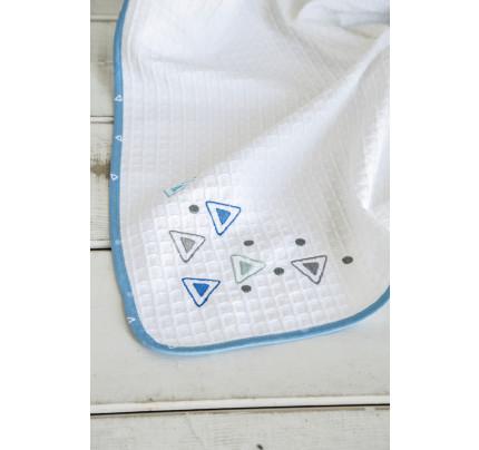 Κουβέρτα Πικέ Κούνιας 110x140 - Nima Blob