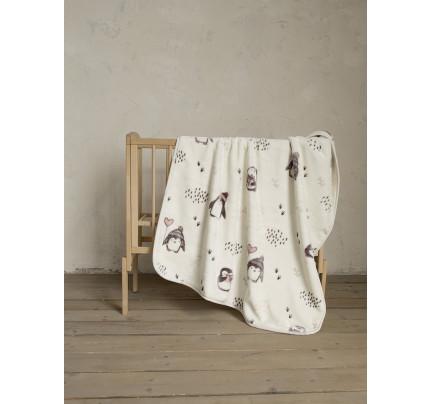 Κουβέρτα Βελουτέ Κούνιας 110x140 Nima Pingui