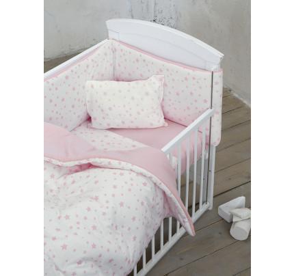 Σεντόνια Κούνιας (Σετ) 120x170 Nima Giggle Pink Χωρίς Λάστιχο