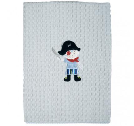 Κουβέρτα Πικέ Αγκαλιάς 80x110 Das Home Dream Embroidery 6510 Γαλαζιο