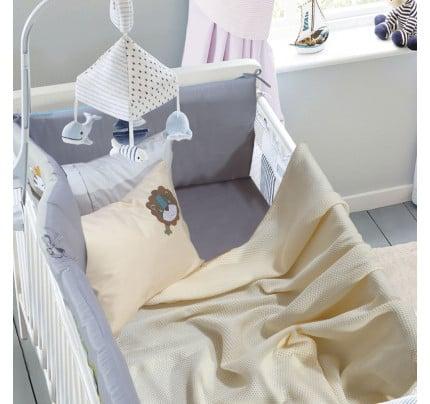 Κουβέρτα Πικέ Αγκαλιάς 80x110 Das Home Relax 6543 Εκρου