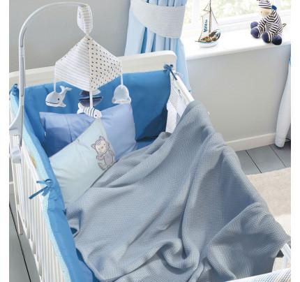 Κουβέρτα Πικέ Αγκαλιάς 80x110 Das Home Relax 6545 Γαλαζιο