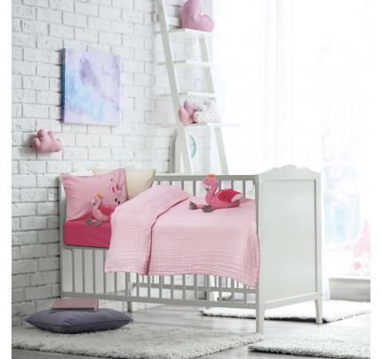 Κουβερτόριο Κούνιας 110x150 Das Home Relax 6477 Ροζ