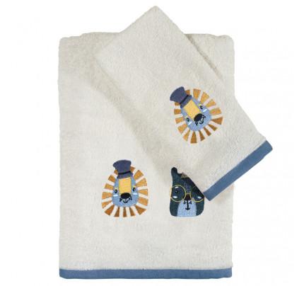 Βρεφικές Πετσέτες (Σετ 2 Τμχ) Das Home Fun Embroidery 4708 Εκρου-Σιελ