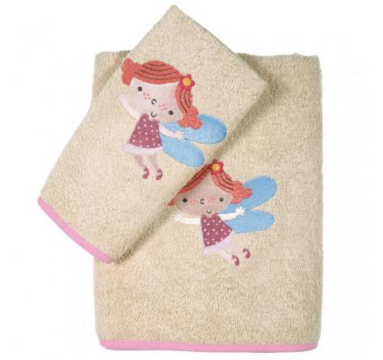 Βρεφικές Πετσέτες (Σετ 2 Τμχ) Das Home Smile Embroidery 6558 Σομον