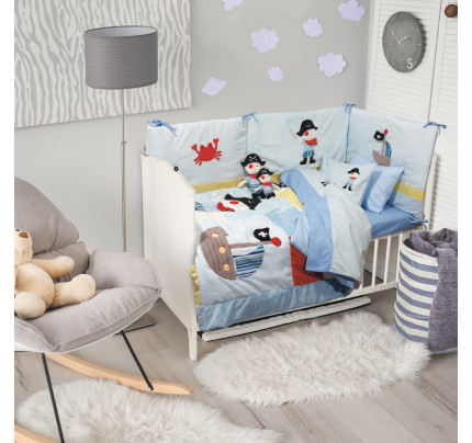 Σεντόνια Κούνιας (Σετ) 120x170 Das Home Dream Embroidery 6510 Γαλαζιο Χωρίς Λάστιχο