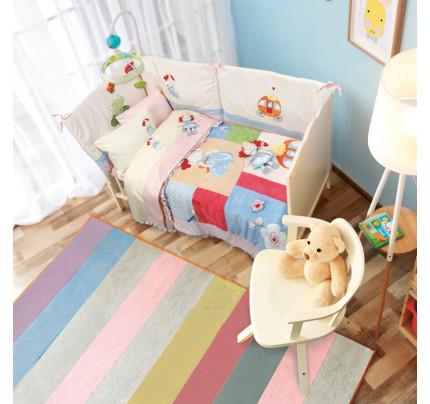Σεντόνια Κούνιας (Σετ) 120x170 Das Home Dream Embroidery 6511 Ροζ Χωρίς Λάστιχο