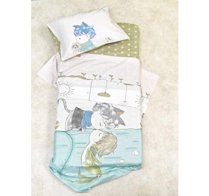 Βρεφικό Σετ Κρεβατιού (6 Τμχ) Κούνιας BS7013 Palamaiki Baby Satin