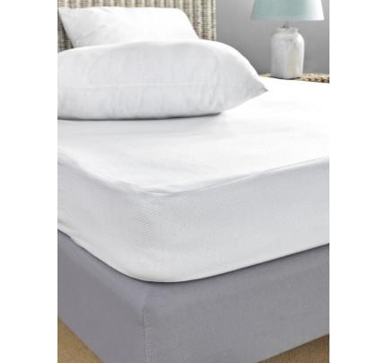Αδιάβροχο Κάλυμμα Στρώματος Υπέρδιπλο 170x200 Jaquard Waterproof Palamaiki White Comfort