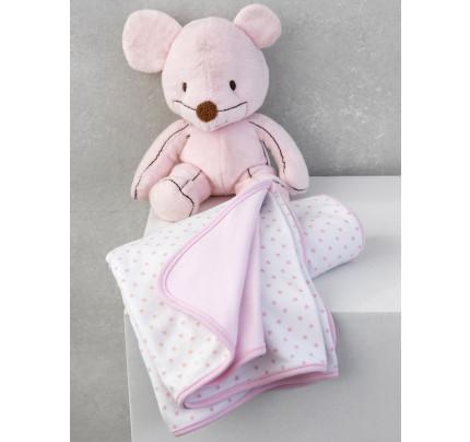 Κουβέρτα Διπλής Όψης 75x100 Palamaiki New Baby Nb-0117 Pink