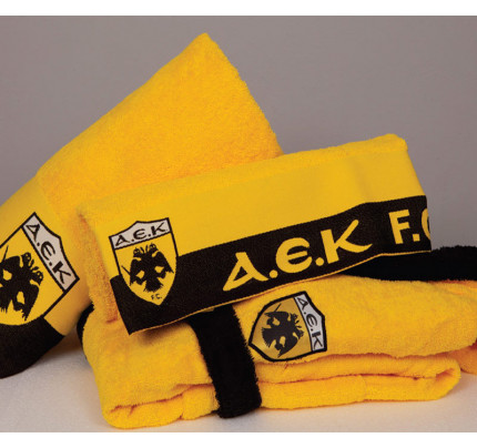Πετσέτα Προσώπου (50x100) Palamaiki Official Team Licenced Α.Ε.Κ. 1924 TOWEL Yellow
