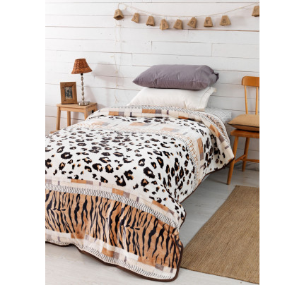 Κουβέρτα Fleece Μονή 160x240 SY-250 Palamaiki Silky Collection