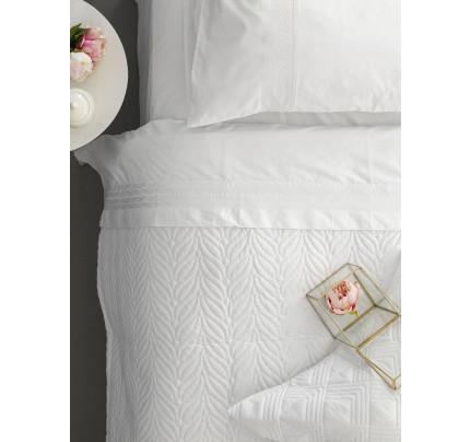 Σεντόνια+Κουβερλί Υπέρδιπλο 240x260 Palamaiki Wedding Collection Wel-010 White