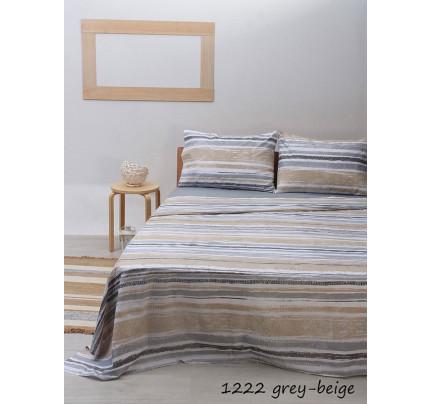 Σεντόνια Υπέρδιπλα (Σετ) Sunshine 1222 Grey/Beige