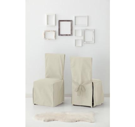 Σετ (2 Τμχ) Σταθερά Καλύμματα Καρέκλας Με Δέστρες Aigaio