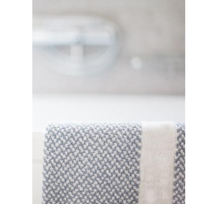 Πατάκι 50x75 Μπάνιου - Γκρι Λευκό Πλαίσιο Ξενοδοχειακό