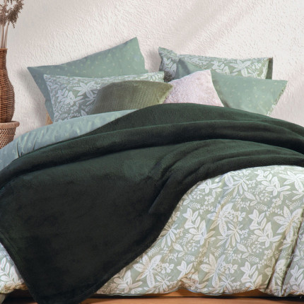 Κουβέρτα Fleece Μονή 160X220 Nef Nef Nasty Green