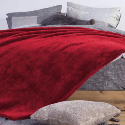 Κουβέρτα Fleece Υπέρδιπλη 240X220 Nef Nef Nasty Red