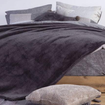 Κουβέρτα Fleece Υπέρδιπλη 240X220 Nef Nef Nasty Grey