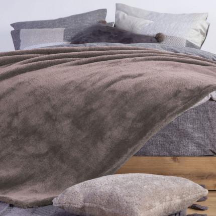 Κουβέρτα Fleece Υπέρδιπλη 240X220 Nef Nef Nasty Beige