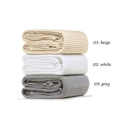 Κουβέρτα Πικέ Υπέρδιπλη 230x260 Grey