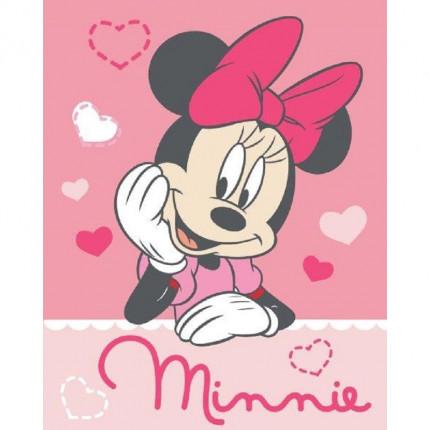 Κουβέρτα Fleece Κούνιας 120X150 Dimcol Disney Minnie 06 Ροζ