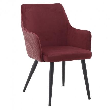 Βελούδινη/Μεταλλική Καρέκλα Inart 3-50-644-0018
